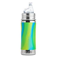 Pura®nerezová láhev s pítkem 325 ml-zelená/aqua