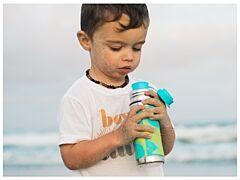 Pura® Termo láhev s pítkem 260 ml - zelená/aqua