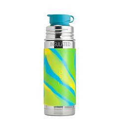 Pura® Termo láhev se sportovním uzávěrem 260 ml - zelená/modrá