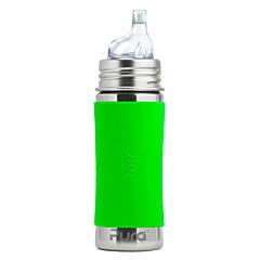 Pura®nerezová láhev s pítkem 325 ml-zelená