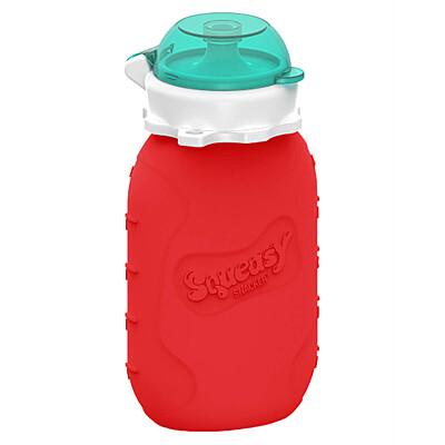 Silikonová kapsička červená 180 ml Squeasy