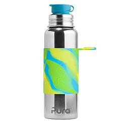 Pura® nerezová láhev se sportovním uzávěrem 850 ml - zelená-aqua