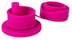 Pura big mouth silikonový sportovní uzávěr se slámkou - růžová