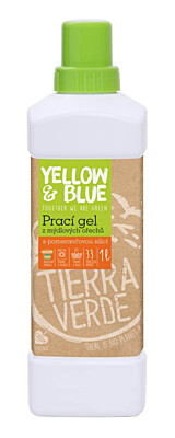 Prací gel z mýdlových ořechů s pomerančovou silicí Y&B
