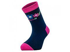Bambusové ponožky Unuo květinky - 19-22