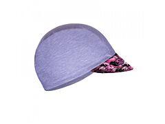 Unuo funkční čepice s kšiltem UV 50+ žíhaná šedá, velryby holka - vel. S