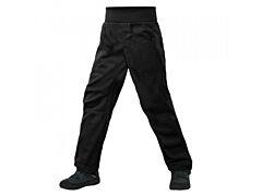Dětské softshellové kalhoty Unuo s fleesem Cool, černá - 116/122