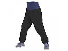 Batolecí softshellové kalhoty Unuo černé - 74/80