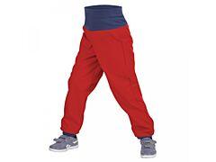 Batolecí softshellové kalhoty Unuo červené - 74/80