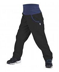Dětské softshellové kalhoty Unuo bez zateplení černé - 104/110