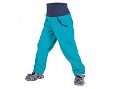 Dětské softshellové kalhoty Unuo bez zateplení aqua - 104/110