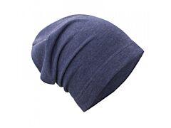 Teplákovinová čepice spadená Unuo Jeans melír S (45-48 cm)