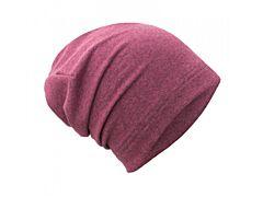 Teplákovinová čepice spadená Unuo Růžový melír S (45-48 cm)