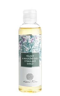 Tělový a masážní olej stimulace svalů 200ml - Nobilis Tilia